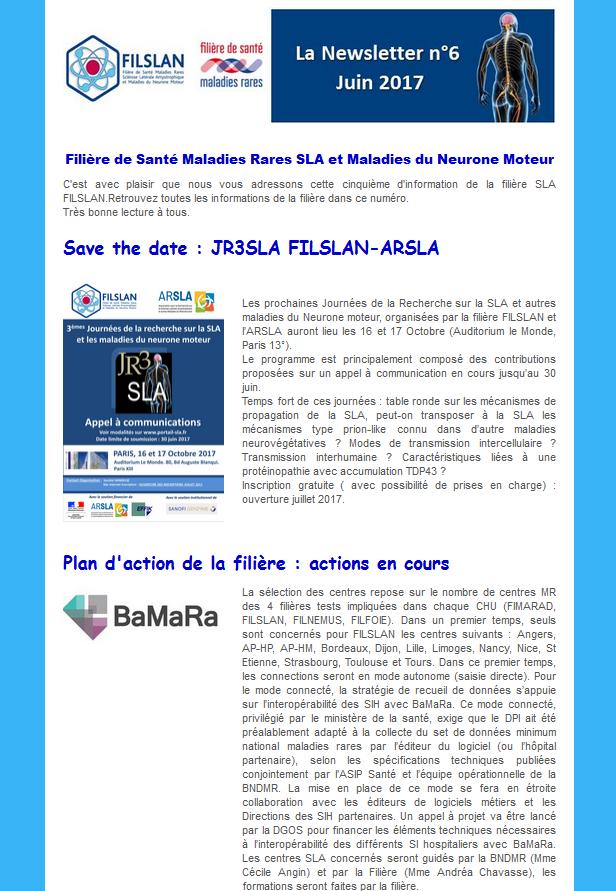 Newsletter N°6 - Juin 2017