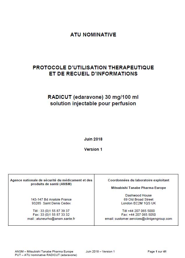 Protocole d'Utilisation Thérapeutique (PUT)