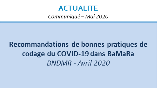 Recommandations de bonnes pratiques de codage du COVID-19 dans BaMaRa
