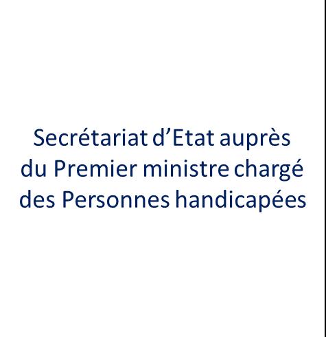 Secrétariat d'Etat chargé des Personnes handicapées