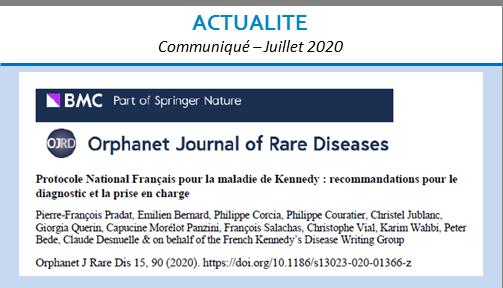 Protocole National Français pour la maladie de Kennedy : recommandations pour le diagnostic et la prise en charge