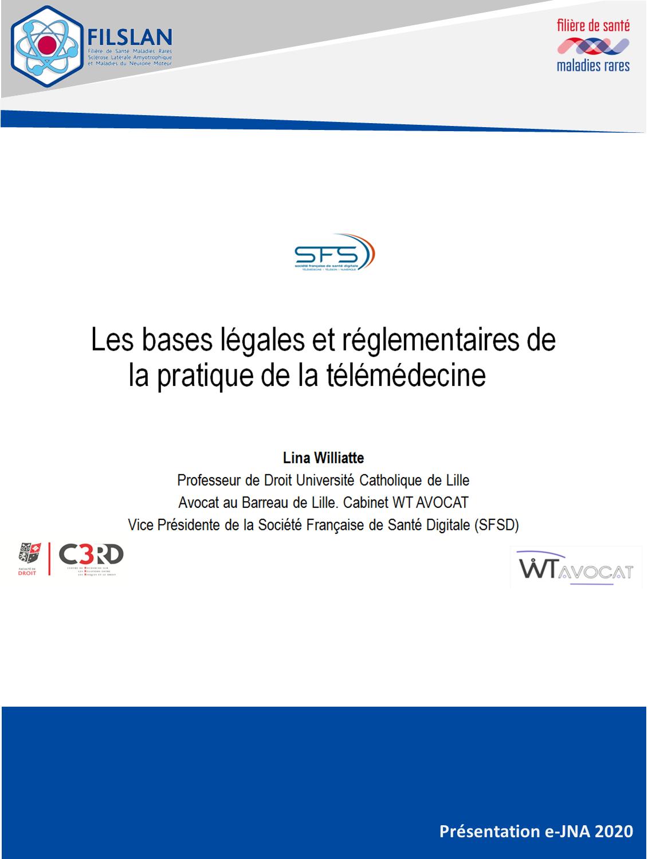 Bases légales et réglementaires - Télémédecine